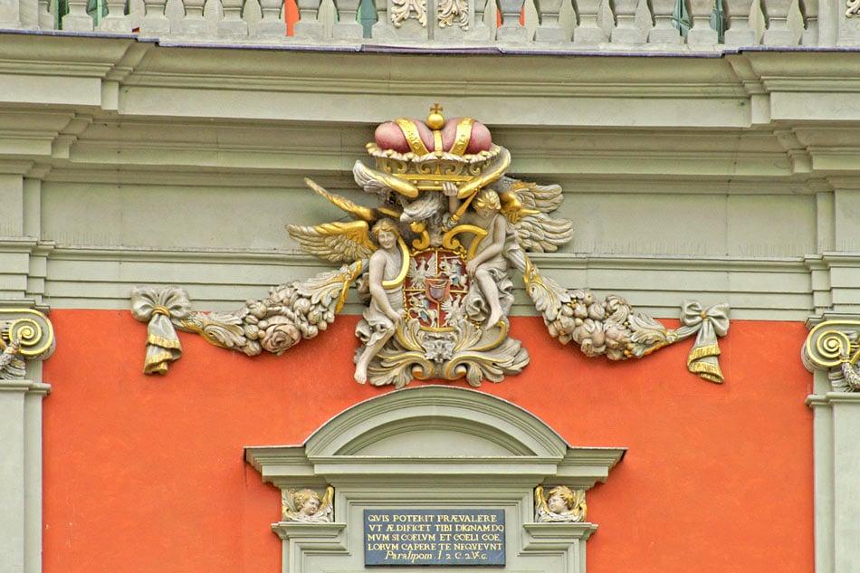 Detail on Gdansk Old Town building