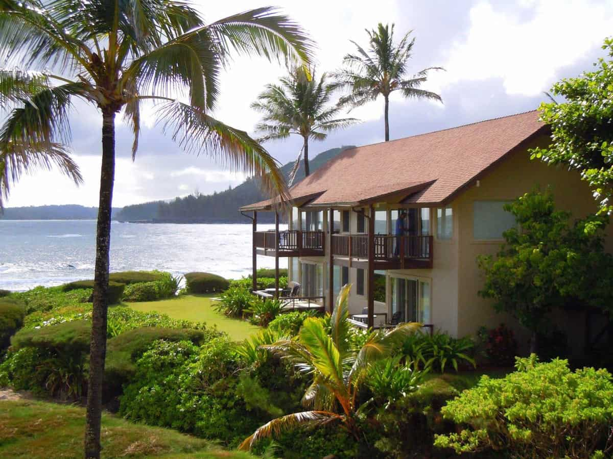 Could these Hanalei Colony Resort condo-style suites be any closer to the beach?