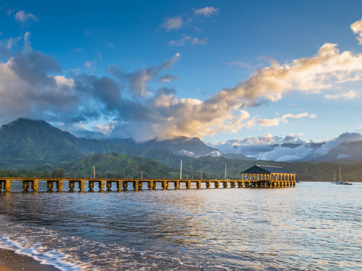 Hanalei Bay is one of the best swimming beaches in Kauai.