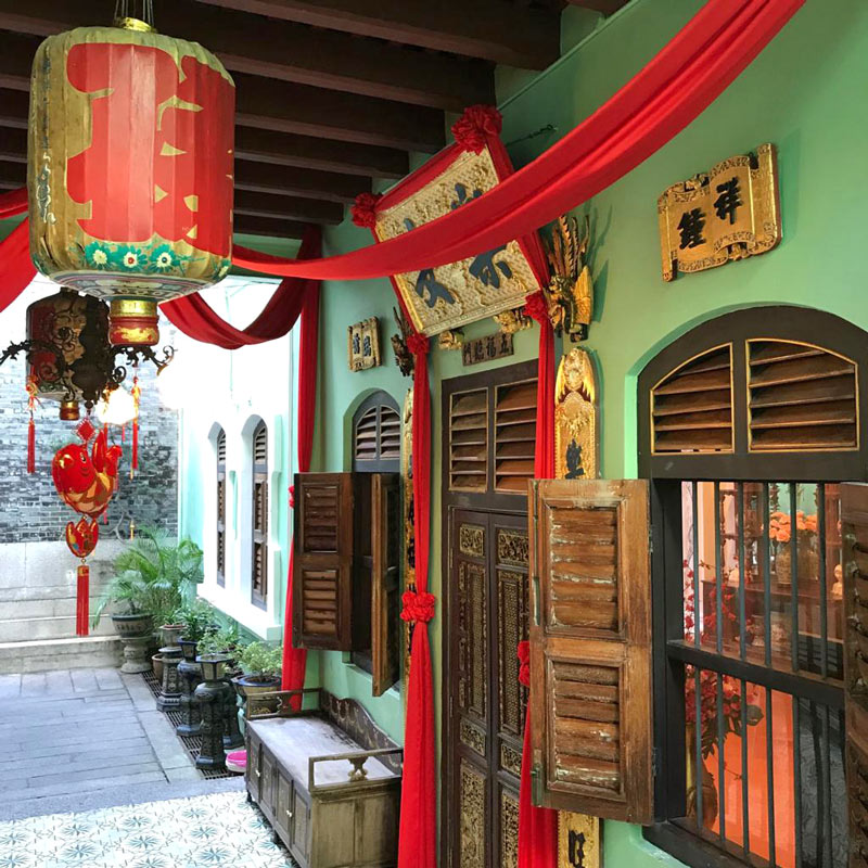 The opulent 19th century Pinang Peranakan Mansion looks like the typical home of a wealthy Baba