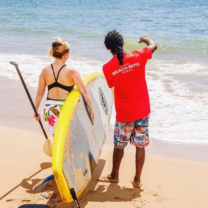 Kauai Beach Boys can help you to learn to SUP in Kauai.