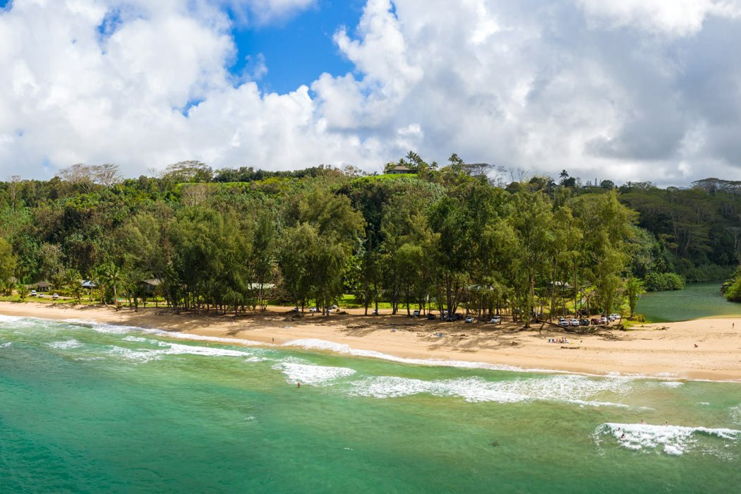 Kalihiwai Beach is one of the best beaches in Kauai to swim and go boogie boarding in summer, when the water is calm.