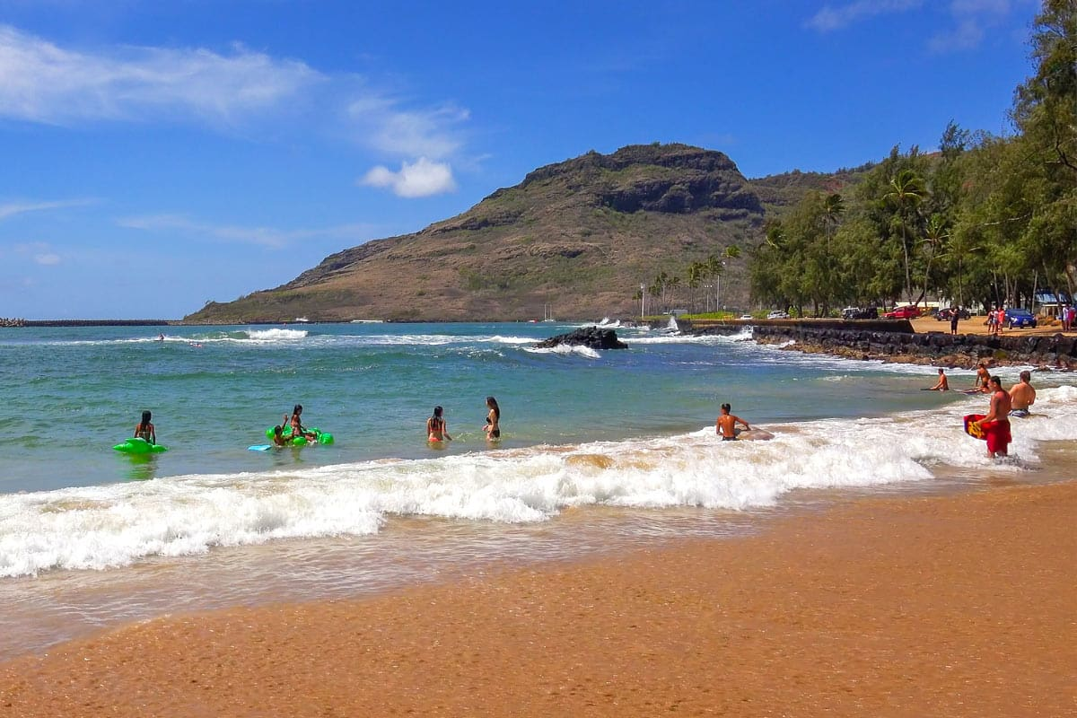 Boogie boarding is fun at Kalapaki Beach, Kauai.