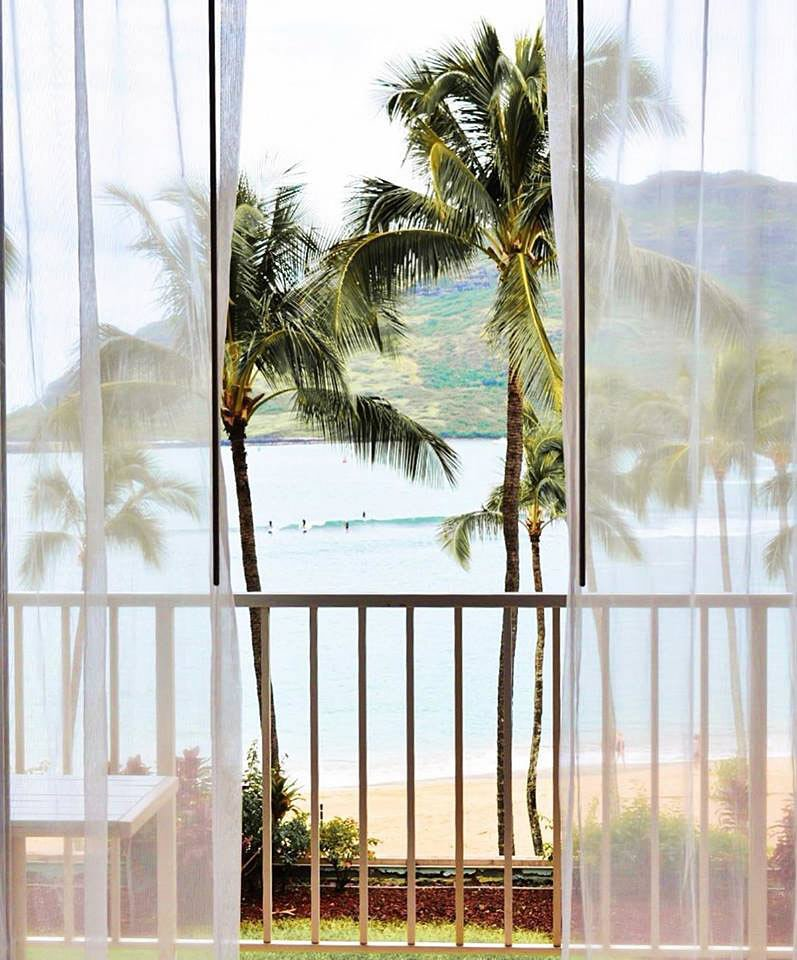 Book an oceanview room and you'll wake up to this view.