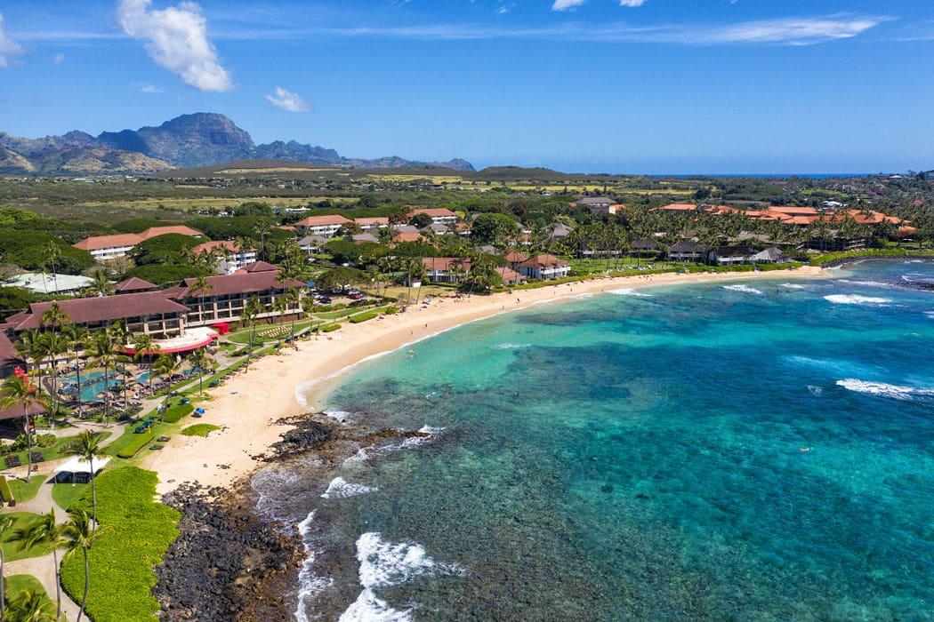 Kiahuna Beach is one of the beaches in Poipu, Kauai.