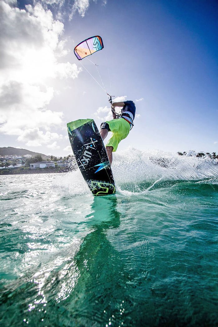 Kitesurfing is a popular activity in St. Barts.