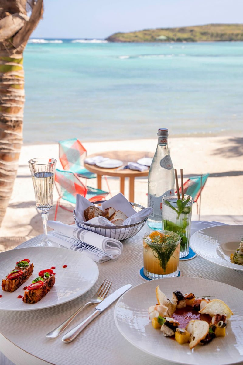 Le Sereno is the best St. Barts restaurant for toes-in-the-sand dining.