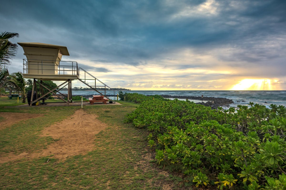 Lydgate State Park is one of the safest year-round beaches in Kauai for swimming.