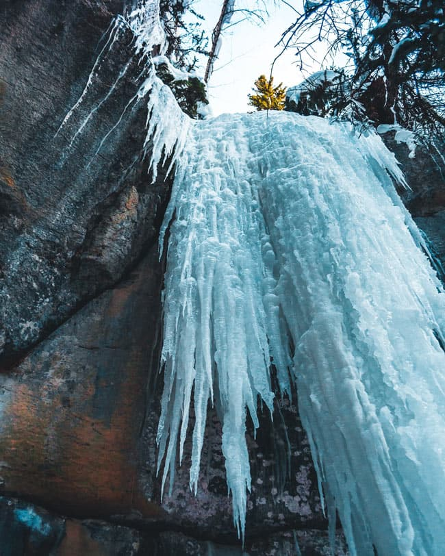 Maligne Canyon in Winter