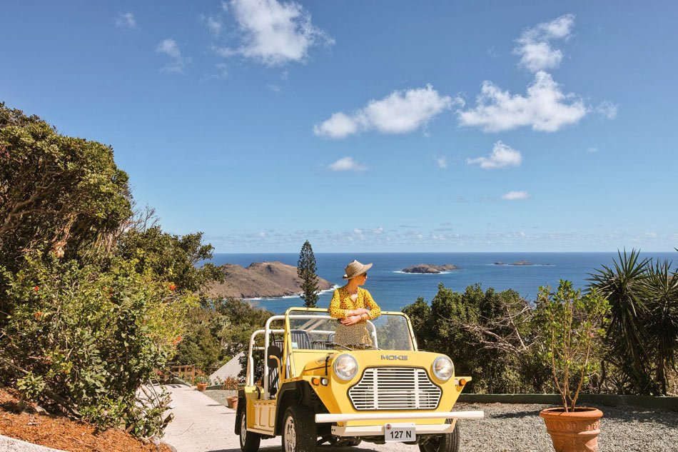 A mini-moke is a great way to get around St. Barts.