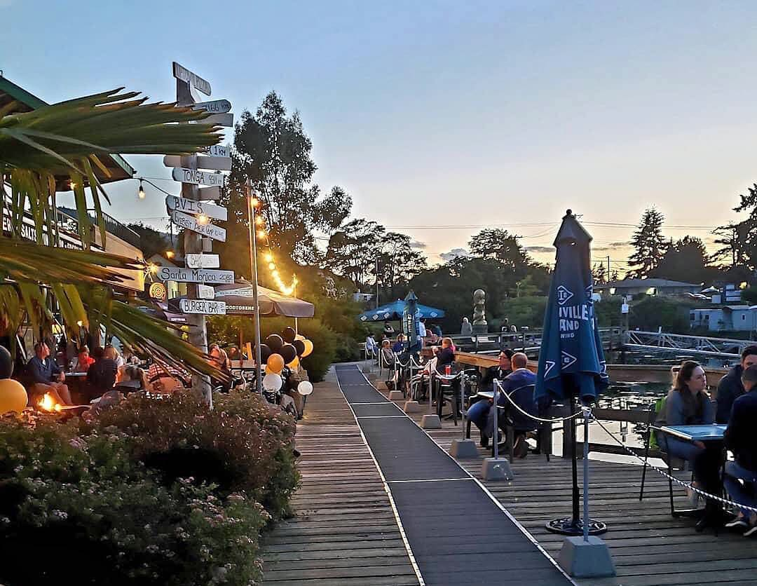 The Oystercatcher restaurant in Salt Spring Island has a great waterfront deck.