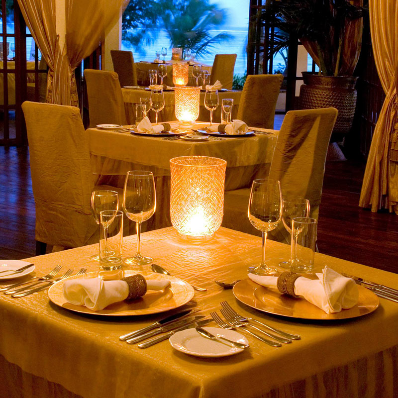 Dining by candlelight at The Palms, Zanzibar