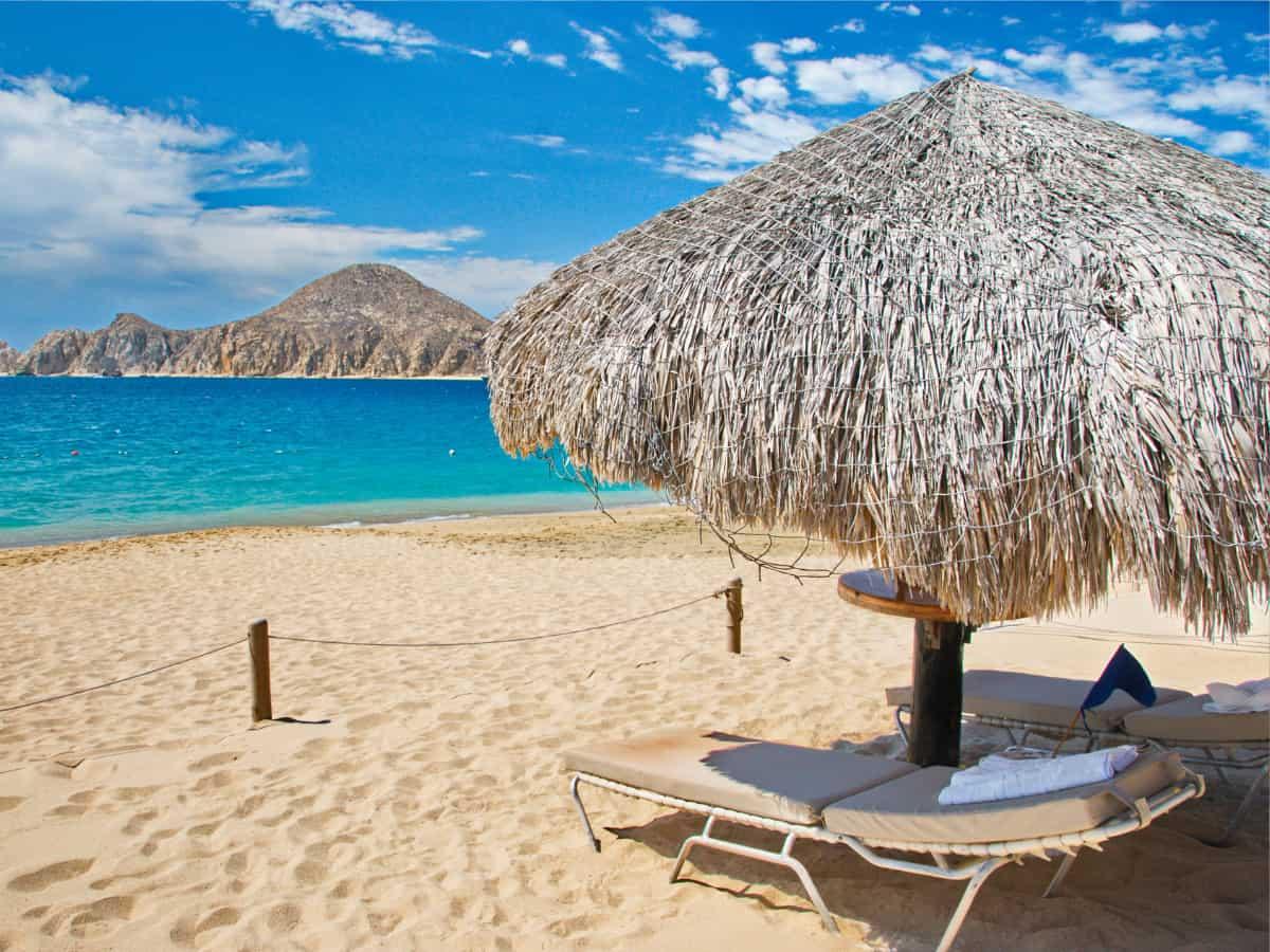 Beach chairs in Cabo San Lucas