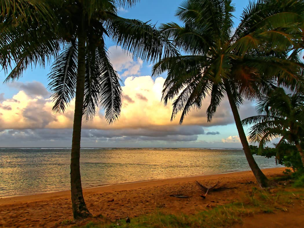 One of the best places for paddleboarding in Kauai is Anini Beach.