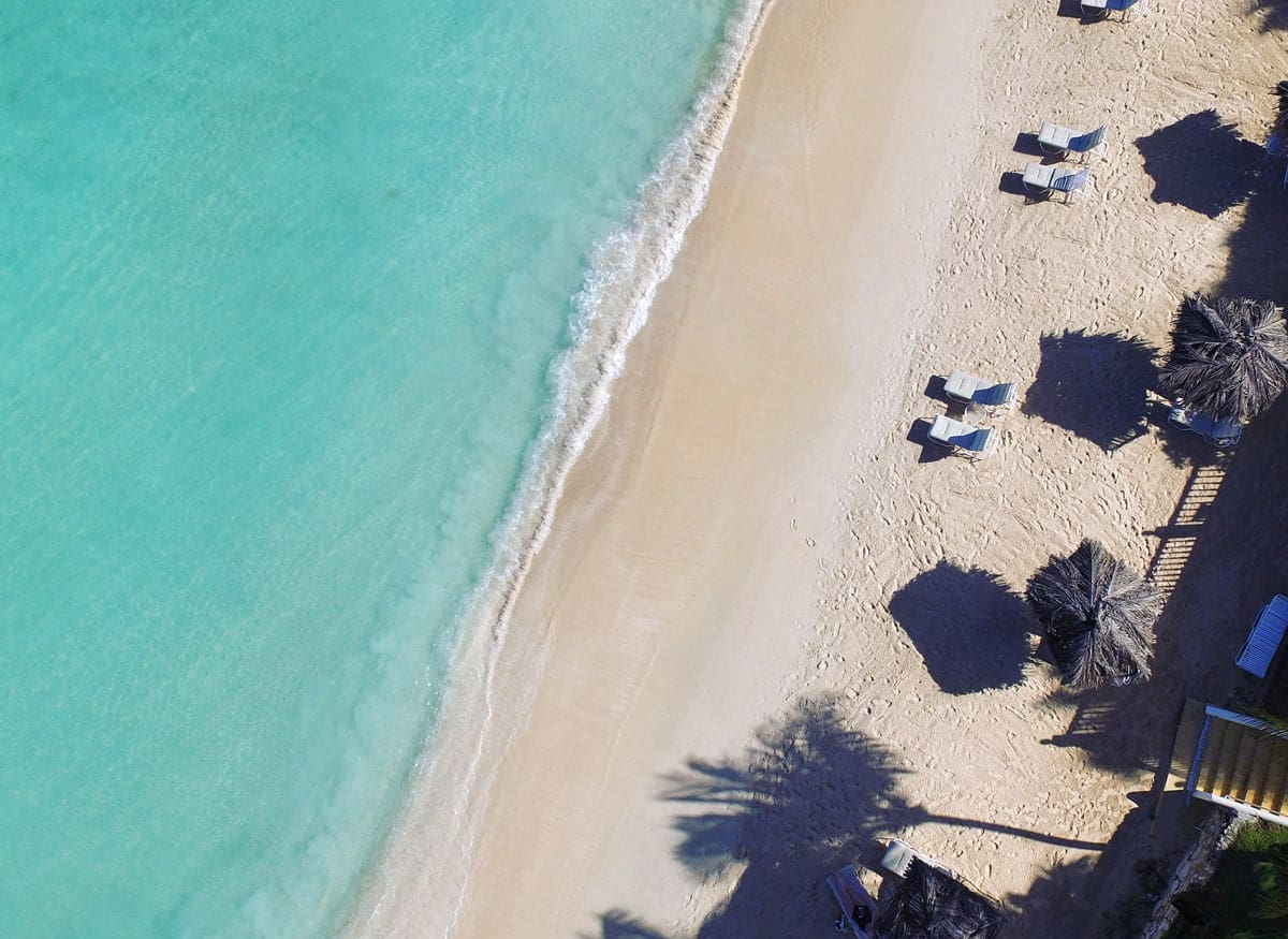One of the best beaches in Antigua is Soldiers Bay at the Blue Waters Resort.