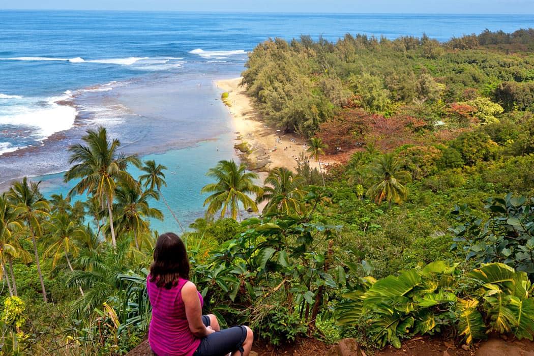 Viewpoint overlooking Ke'e Beach, Kauai
