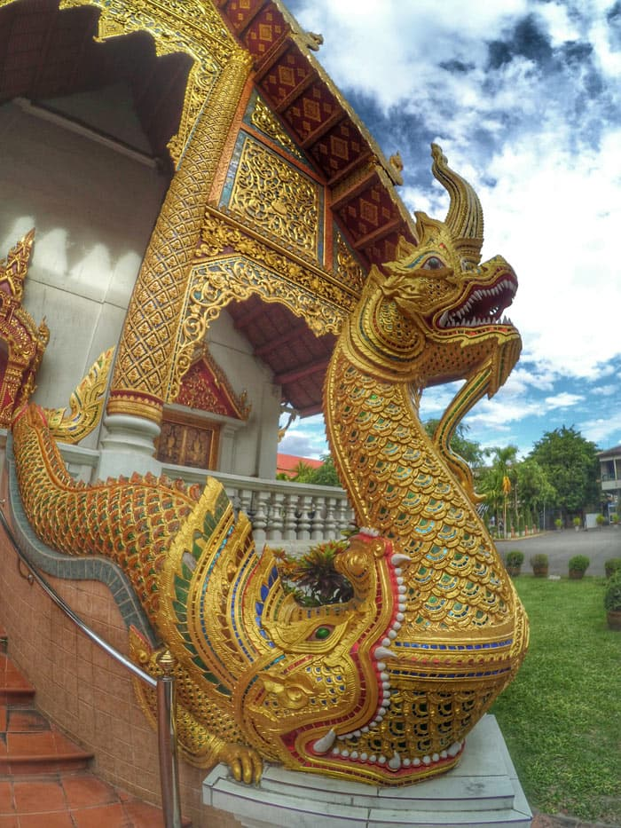 Wat Phra Singh is the most popular temple in Chiang Mai.