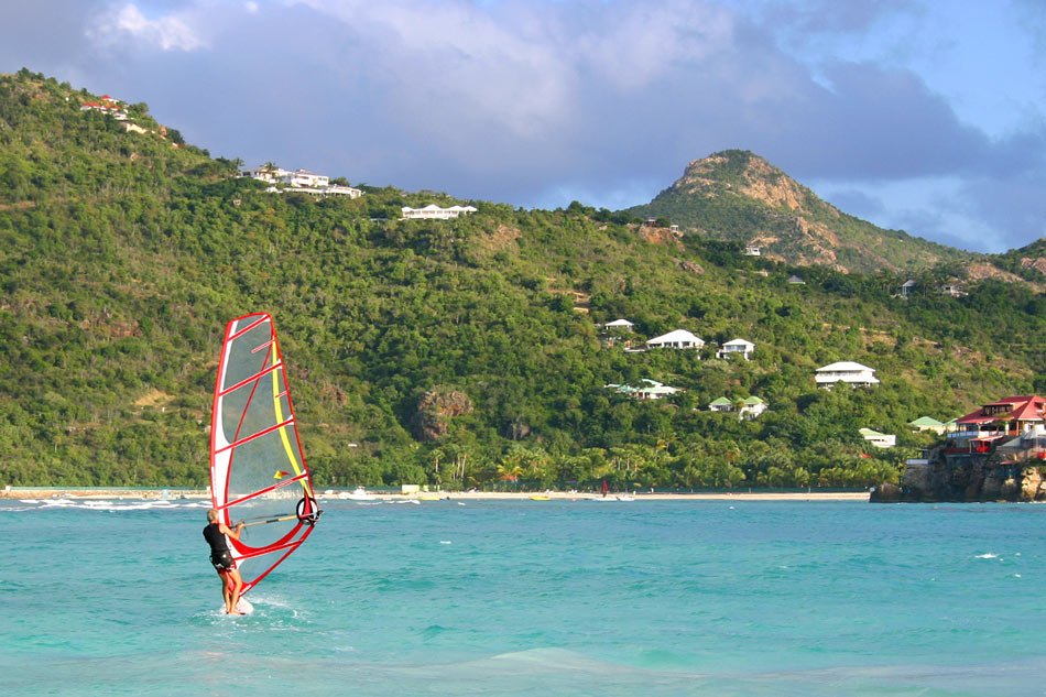 Windsurfing in St. Barts