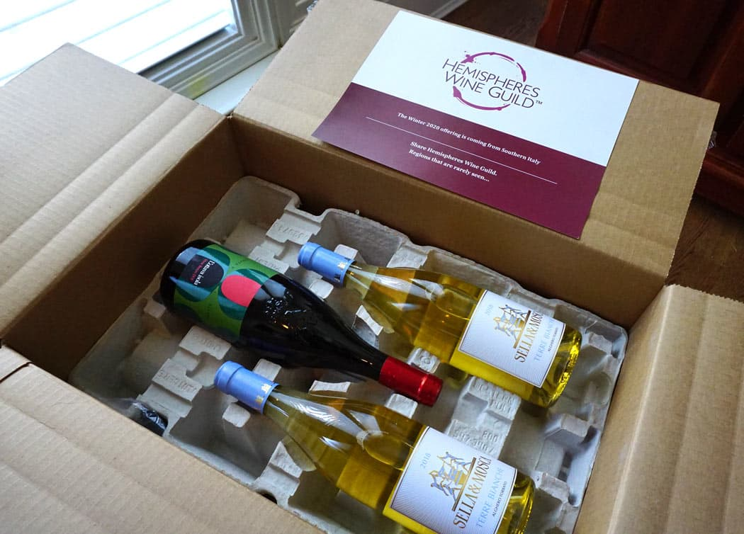 A shipment of wines from Hemispheres Wine Guild, one of the best Canadian wine clubs
