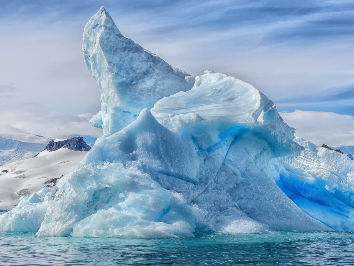 Who knew icebergs in Antarctica are not really white, but blue!