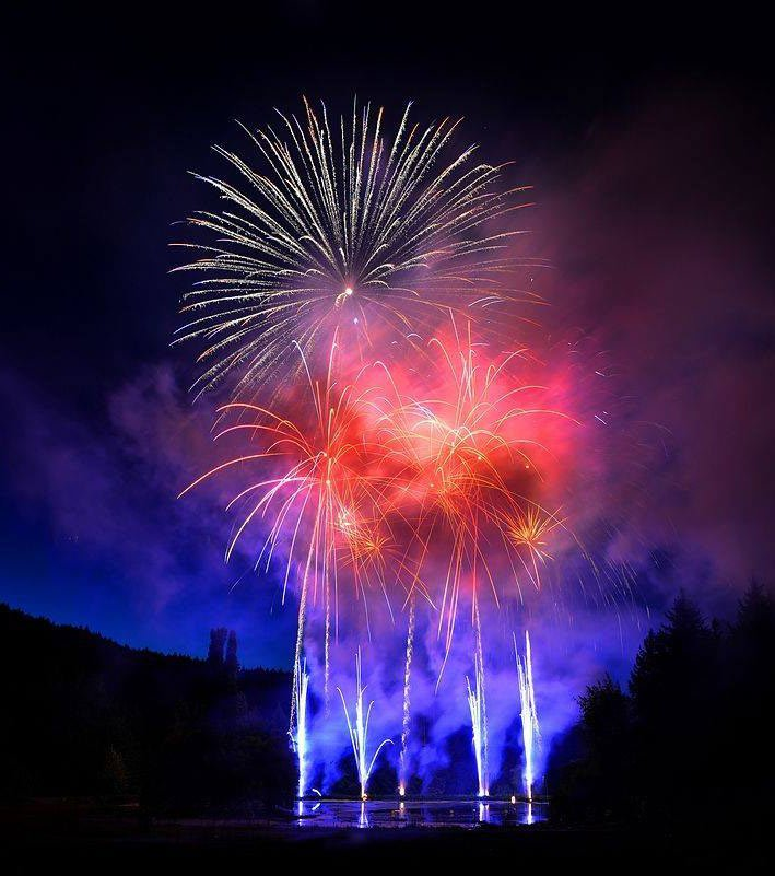 In summer, the Saturday evening fireworks at Butchart Gardens are a fiery spectacle.