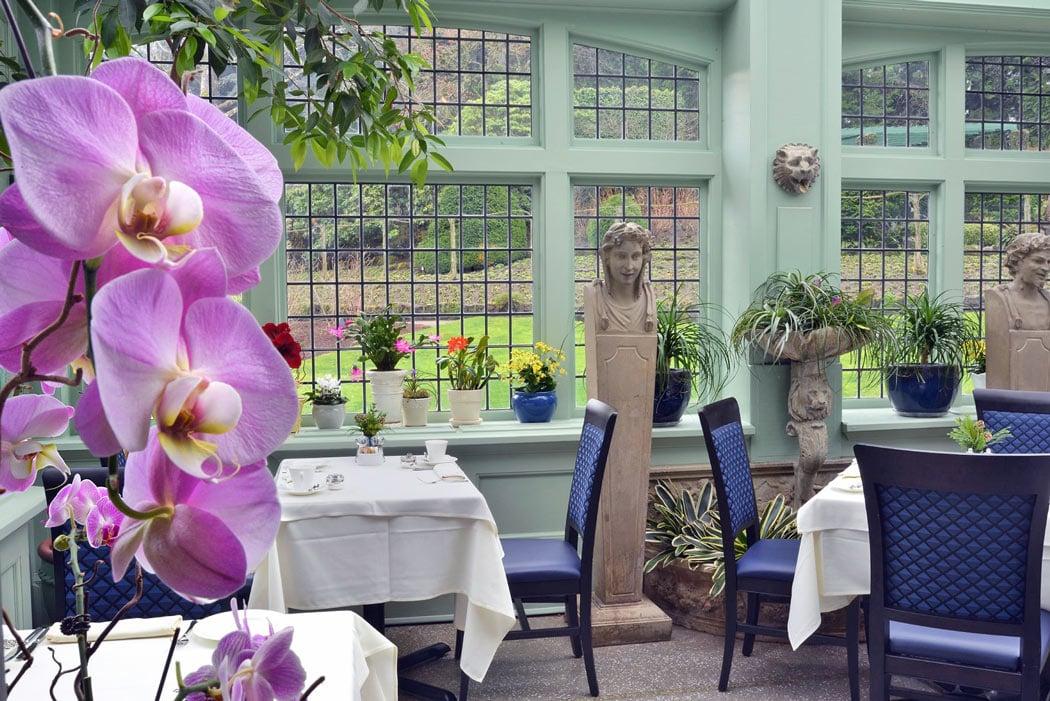 The Butchart Gardens tea house is an elegant spot for high tea.