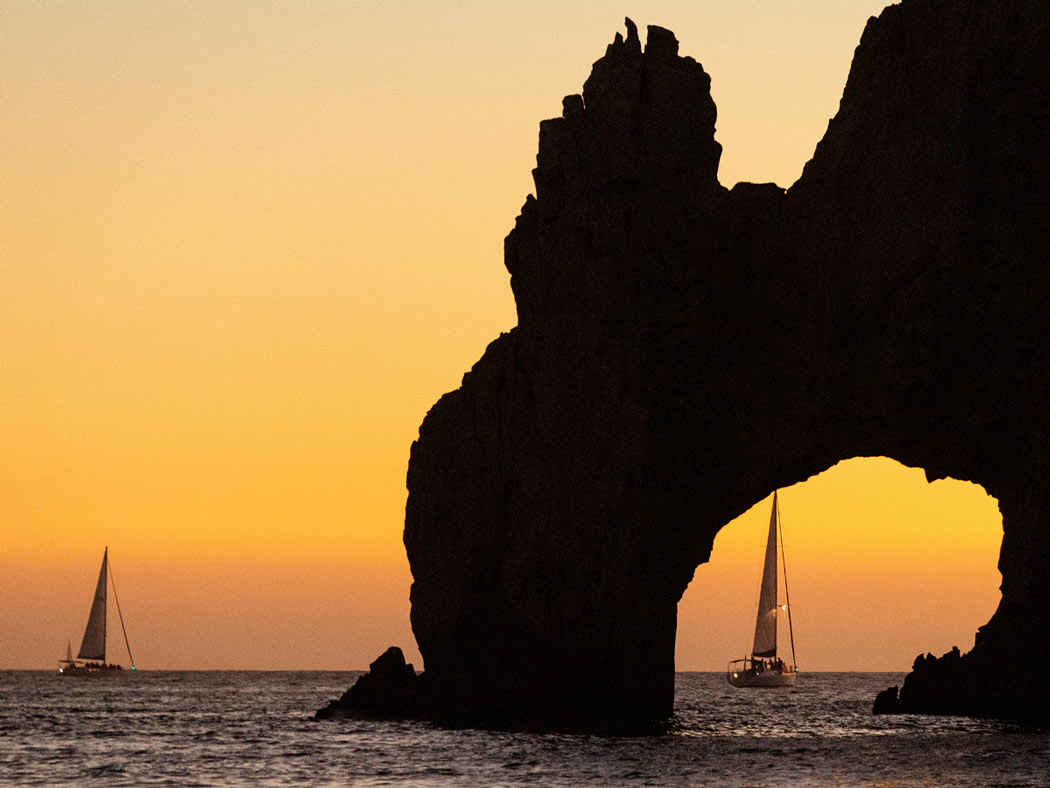 Sunset cruises in Cabo are quite magical.
