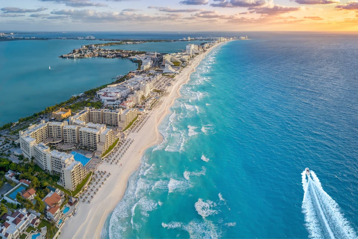 Cancun is on the Yucatan Peninsula on Mexico's east coast.
