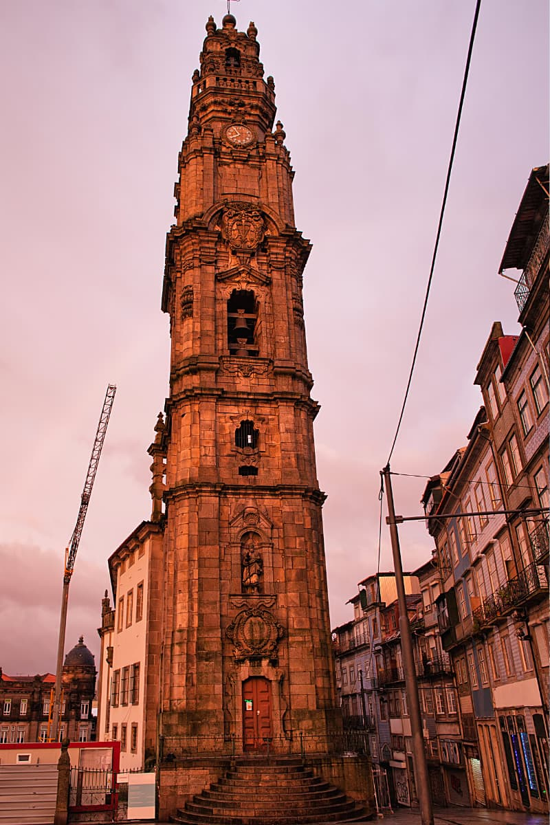 The Baroque-style Clerigos Church in Porto