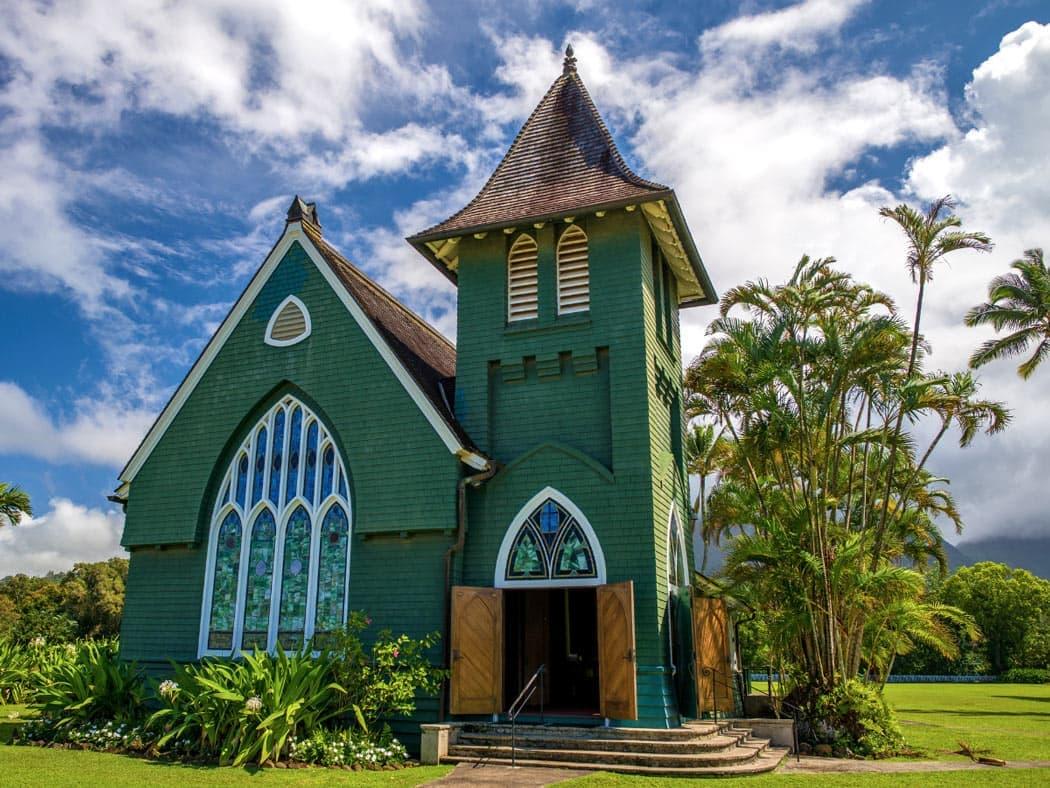 The Wai'oli Hui'ia Church in Hanalei is Insta-worthy