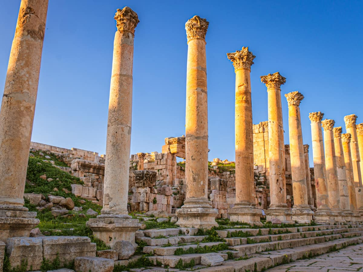 The ancient Roman city of Jerash is an hour's drive from Amman.