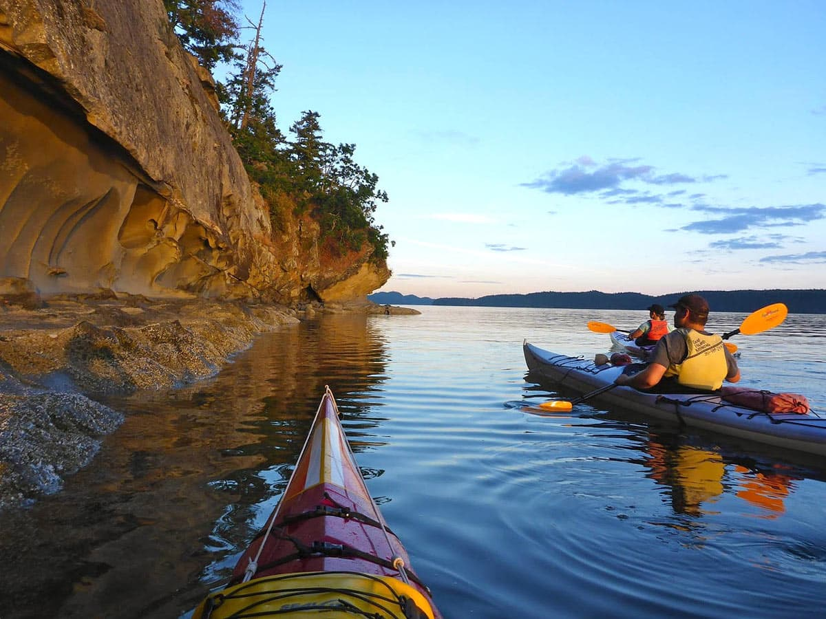 One of the best things to do on Galiano Island is to go kayaking!