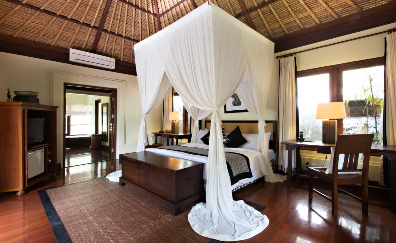 Bedroom at the Kayumanis Bali Villas in Ubud