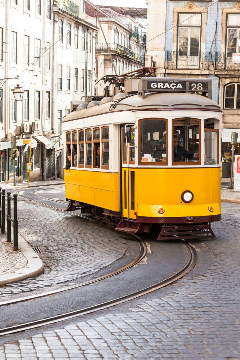 The vintage yellow trams that screech through the narrow streets of Lisbon are the most popular way to navigate the city.