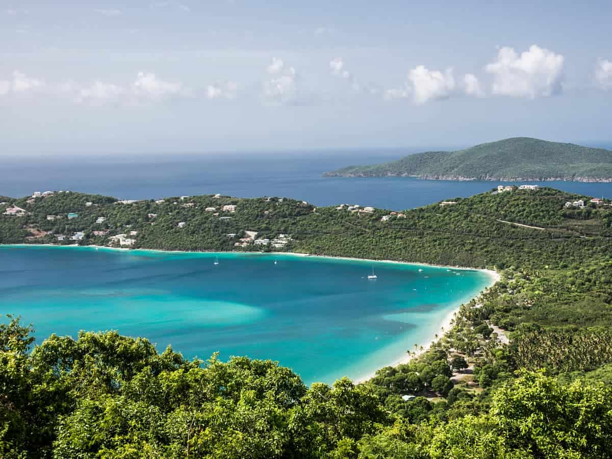 On our Viking Sea cruise, we get views of Magens Bay on St. Thomas.