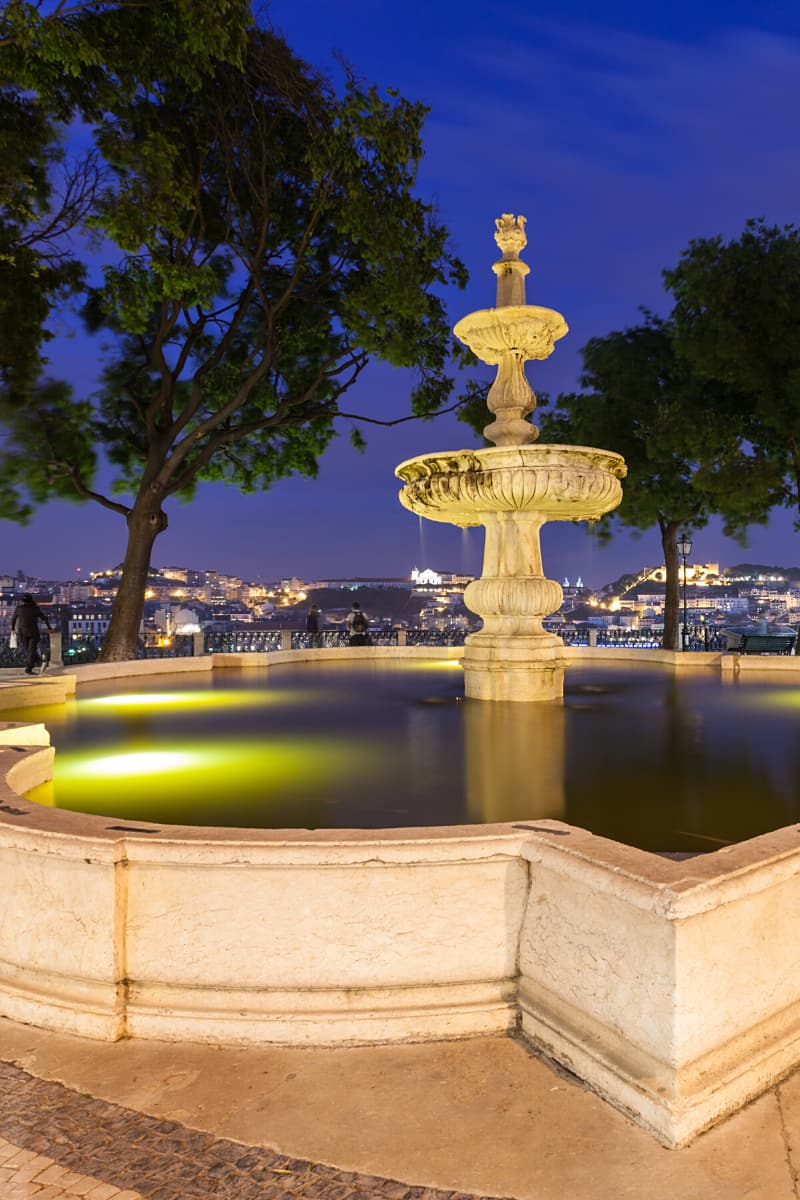 Don't miss the Miradouro de Sao Pedro da Alcantara, a garden terrace offering panoramic views of Lisbon.