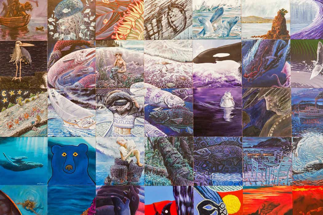 The Kunamokst Mural is one of the top Galiano Island attractions.