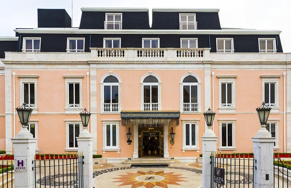 The Olissippo Lapa Palace is a luxury 5-star hotel in Lisbon.