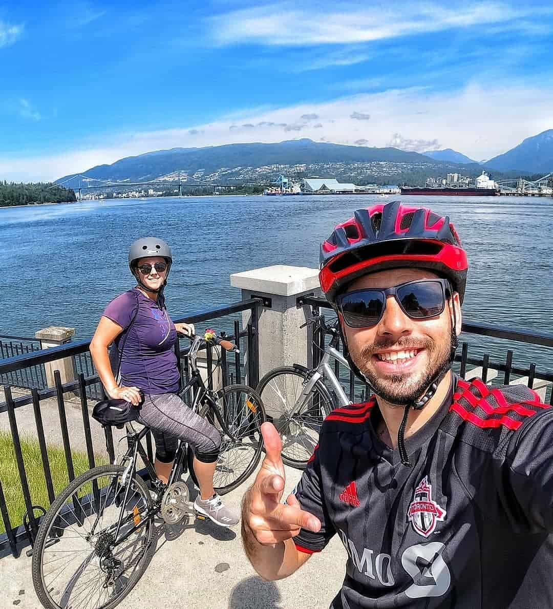 How can you not smile when you go for a Stanley Park bike ride on a sunny day!