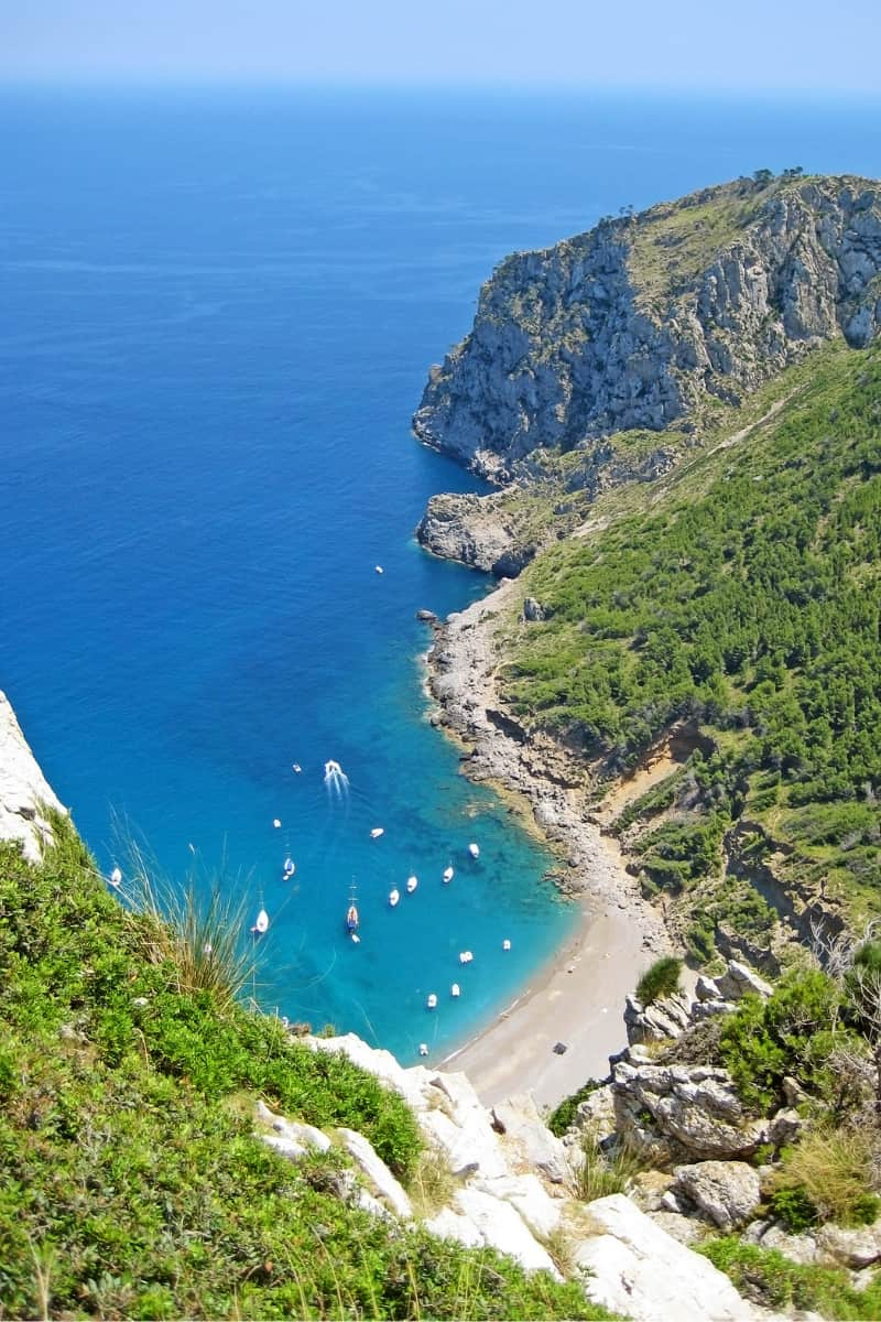 Platja des Coll Baix is one of the best beaches in Mallorca.
