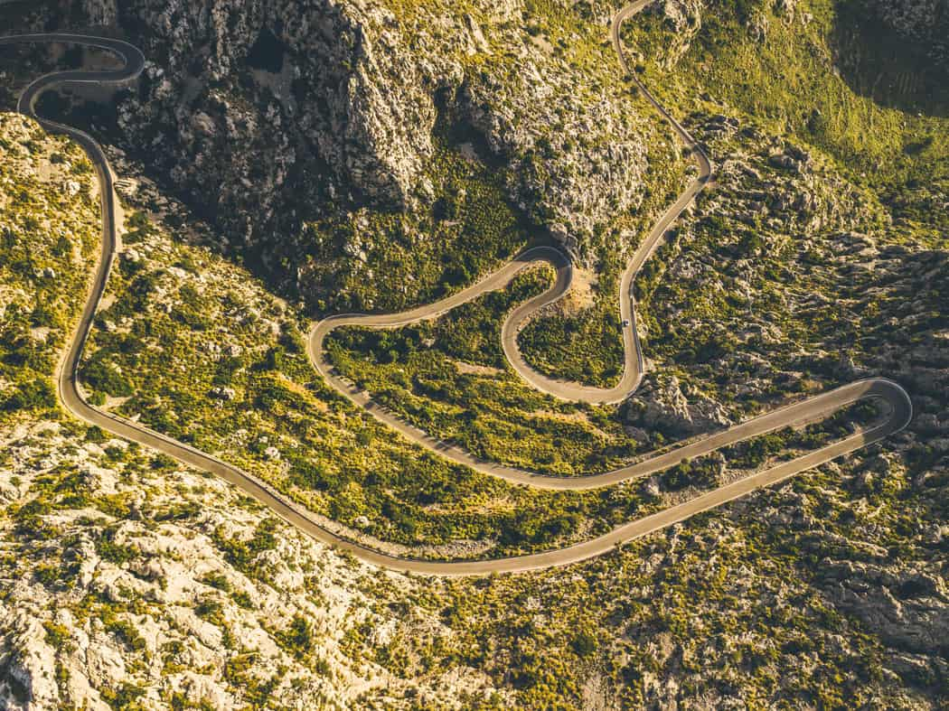 You need courage to drive the snake-like Sa Calobra road in Mallorca!