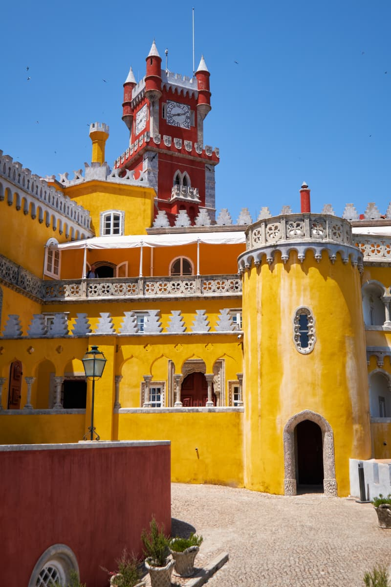 Visiting the magical castle town of Sintra is a great day trip from Lisbon.
