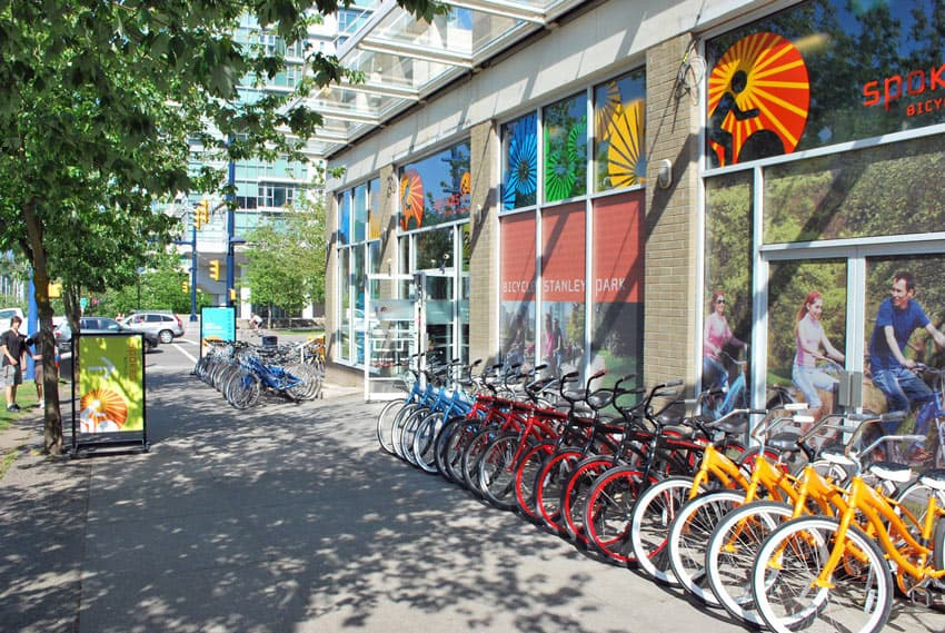 Spokes is one of the best bike rentals in downtown Vancouver.