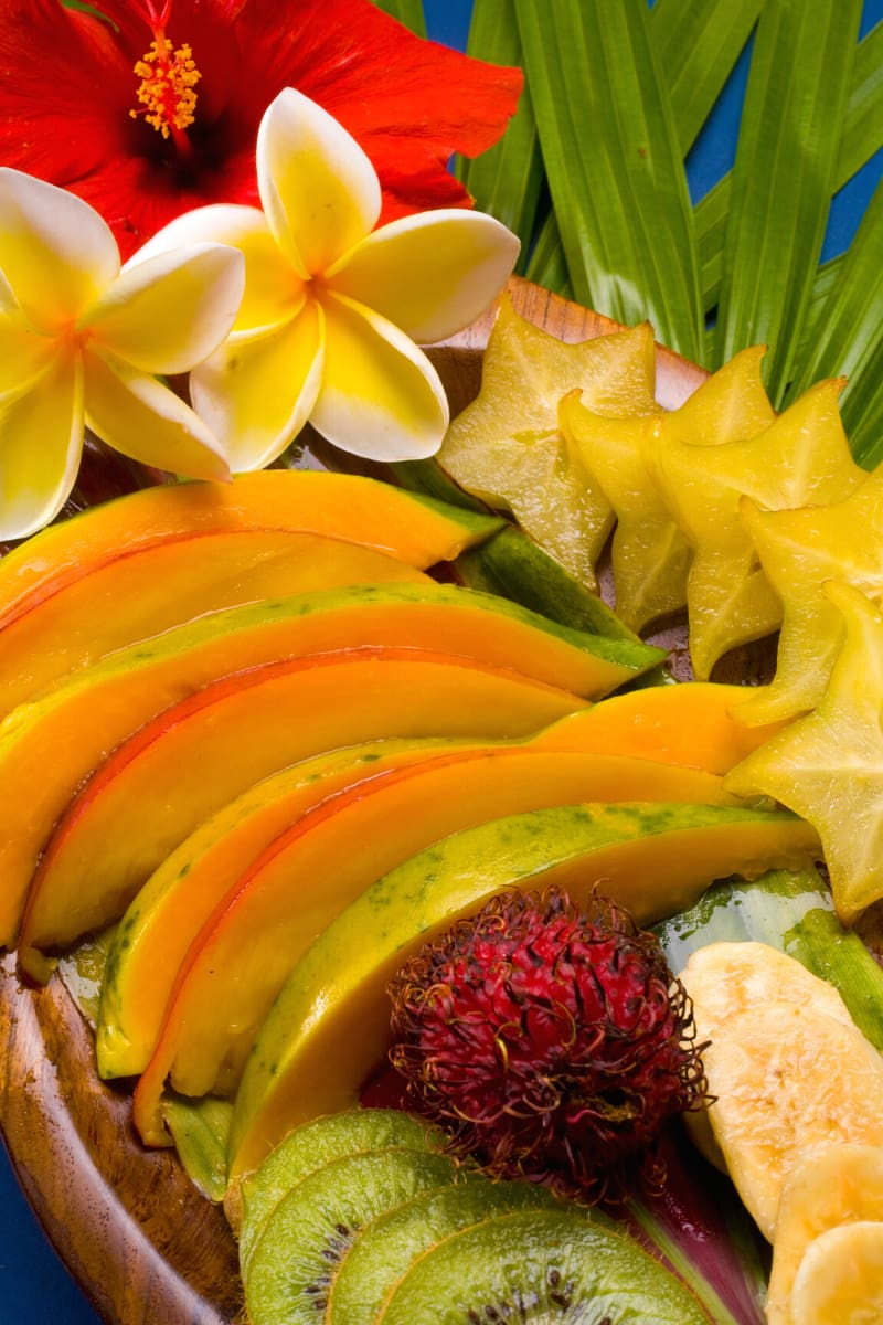 There aren't too many places in the world that do fresh tropical fruit better than Hawaii!