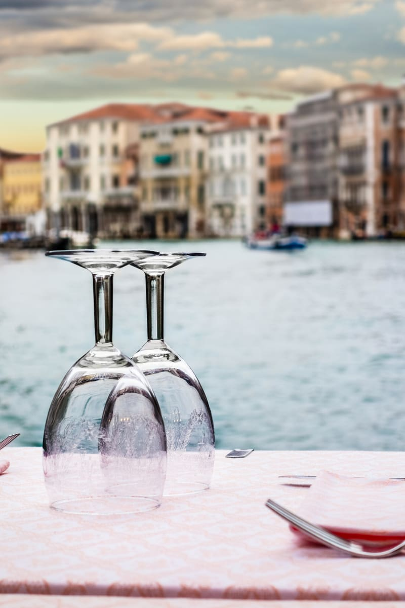 There's no shortage of romantic restaurants in Venice, Italy.