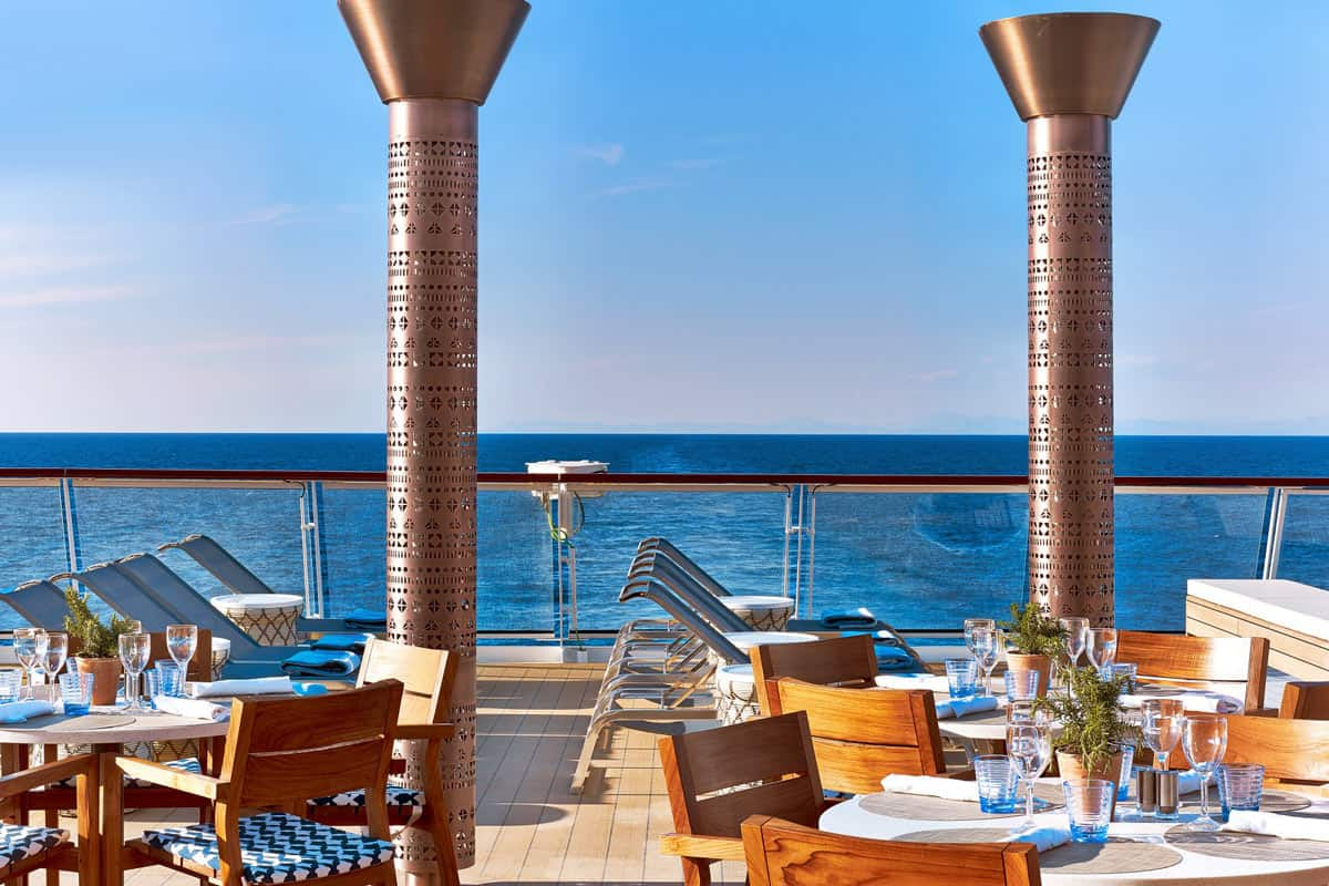 The Aquavit Terrace on the Viking Venus and other Viking ocean-going ships offers more al fresco dining experiences than any other ship at sea.