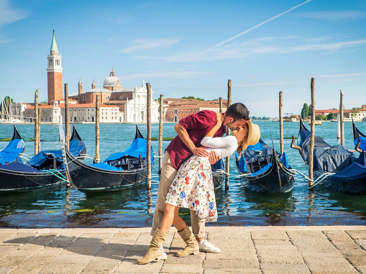 One of the most romantic things to do in Venice, Italy, is to take a gondola ride.