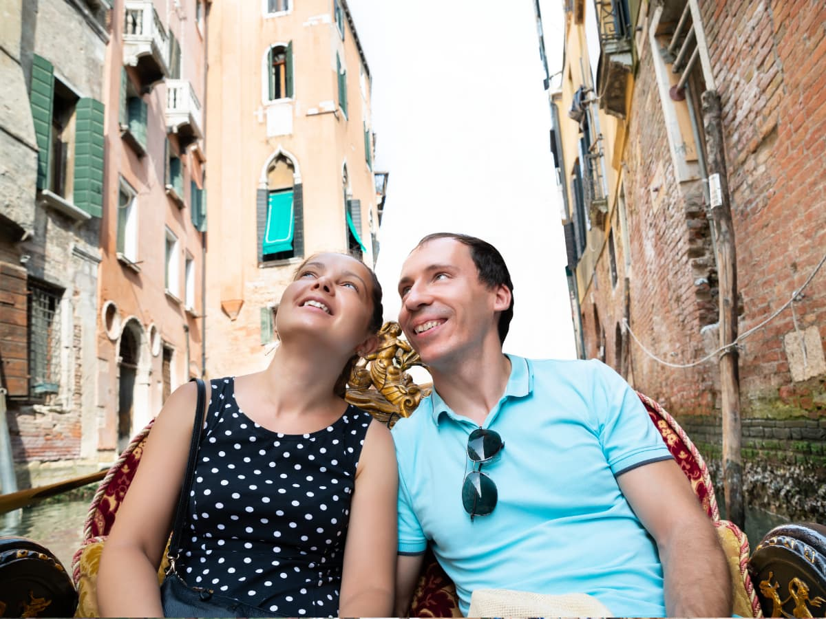 A gondola ride is admittedly pricey, but it's probably the most romantic thing to do in Venice, Italy.