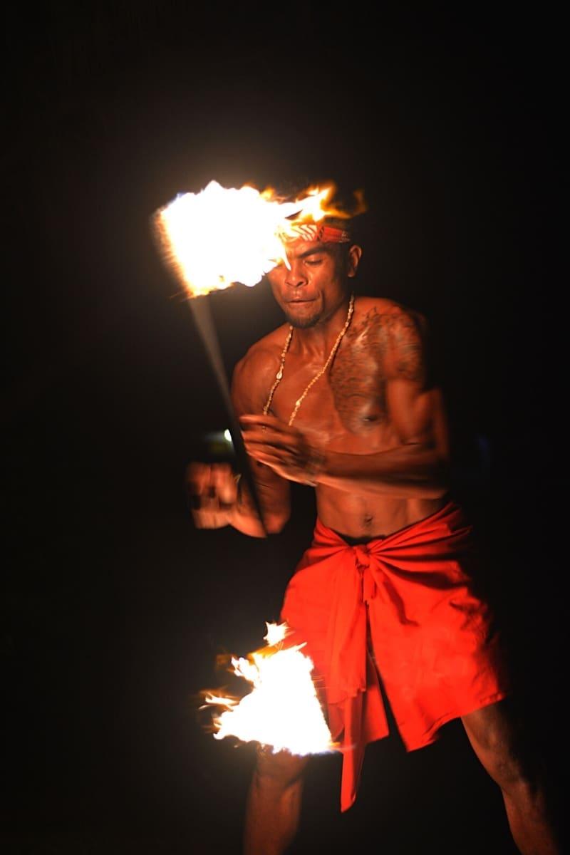 Fiji fire dancer