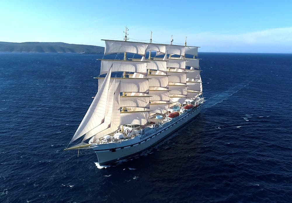 The steel-hulled, five-masted SV Golden Horizon recreates the Golden Age of clipper ships.